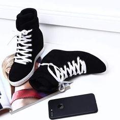 trampki sneakersy na koturnie sznurowki vices 8 cm