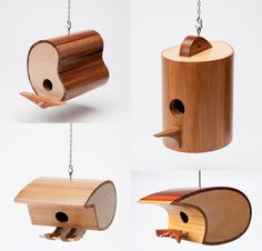 mid century modern birdhouse | All of Mark's birdhouses are eco-friendly. The materials used are ...
