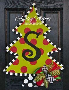Christmas Tree Door Hanger - Ashley Nichole Designs