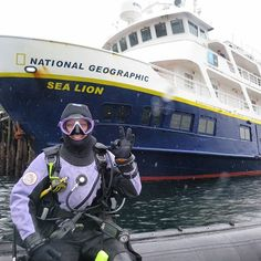 A rainy day dive in Alert Bay, British Columbia, Canada. The diversity of echinoderms along this Pacific Northwest coast is greater than anywhere else worldwide. Pictures to come! Thanks to my DIB driver for this shot of me. #saveourplankton #saveourseas #ocean #conservation #marinebiology #nationalgeographic #sealion #lindbladexpeditions #shiplife #travel #adventure #explore #wanderlust #oceanlife #scuba #scubadive #womanscientist #britishcolumbia #alertbay #canada #rain #suunto #aqualu...