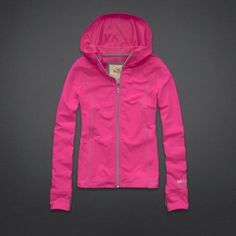 Girls Hollister Active Zip-Up Hoodie Running Tights, Running Shoes, Athletic Wear, Aeropostale, Cashmere Sweaters, Hollister, Me Too Shoes, Zip Ups, Hooded Jacket