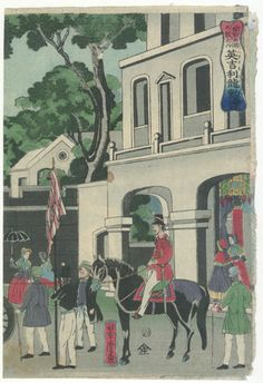 The Metropolis London by Utagawa Yoshitora (Yoshitora / Ichimosai, Kinchoro, Mosai)