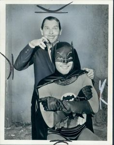 Milton Bearle and Adam West