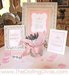 Pretty In Pink Baby Shower Theme - love these printable quotes!