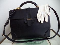 Silvani Briefcase Messenger Bag Cross Body Bag by MushkaVintage3