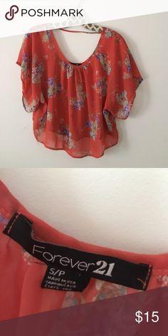 Flowy boho shirt size small Small bohemian flowy shirt light weight 100% polyester. Flowy floral boho shirt. Festival shirt. Tops Tees - Short Sleeve
