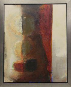 """""""Siblings"""" abstract oil painting by Nancy Bossert"""