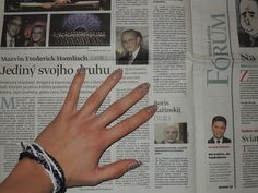 Nails of newspaper