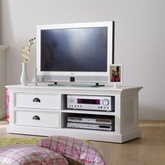 Hamptons Style TV Unit - An All White Finish For a Clean Look