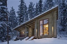 Customizable log home and cabin kits by Honka Log Homes – Book of Cabins - Modern Prefab Cabin Kits, Prefab Cabins, Cabin Design, Cottage Design, House Design, Small Cottage Plans, Wooden Cottage, Modern Ranch, Tiny House Cabin
