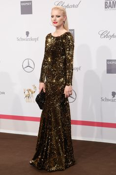 Franziska Knuppe in einem Kleid von Stefan Eckert bei den Tribute to Bambi Awards in Berlin
