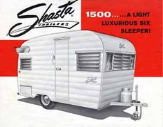 Original Dimensions Features And Specifications For The Shasta 1500 Vintage Trailer