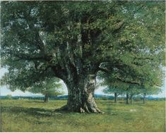 Bring gallery-worthy appeal to your living room or den with this canvas giclee print of Gustav Courbet's The Oak of Flagey. Product: Canvas printConstruction Material: CanvasFeatures: Reproduction of art by Gustav Courbet Gallery wrappedMade in the USA Art Occidental, Gustave Courbet, French Paintings, House Of Turquoise, Old Trees, French Art, Tree Art, Art Reproductions, Les Oeuvres