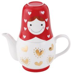 Matryoshka Tea for Two(set of Pot and Cup with a Tea Strainer) - http://www.teasetsale.com/matryoshka-tea-for-twoset-of-pot-and-cup-with-a-tea-strainer-20/ $ 23.99 Tea-For-One Sets Product Features Weight: about 700g Material: Ceramic Capacity: about 350cc cup pot (large) 200cc cup (small) 150cc Country of origin: China Tea-For-One Sets Product Description Tea time, heart pattern is a set of T-4-to-please of Matryoshka is cute cute tea...