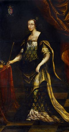 Portrait of Eleanor Maria Josefa of Austria as Queen Jadwiga by Jan Tricius, 1677 (PD-art/old), Muzeum Uniwersytetu Jagiellońskiego (MUJ)