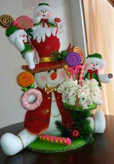 Resultado de imagen para nieves derretidos en paño lency moldes Christmas Fabric, Christmas Crafts, Merry Christmas, Xmas, Christmas Ornaments, Snowman Crafts, Felt Crafts, Diy And Crafts, Disney Christmas Decorations