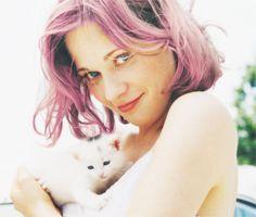 purple hair zooey