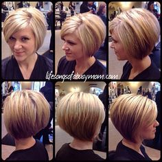 This shows more of the cut than the color. (For those who requested photos). #bob #bobsofinstagram #invertedbob #stackedbob #blondebob #blonde #hair #HOTD #instahair #instabob #shorthair #instastyle #hairstyles