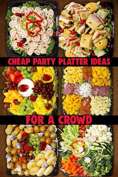Large Batch Party Food – Inexpensive Snacks For Large Groups and Big Crowds – Clever DIY Ideas Christmas Party platter ideas pictures. Large Batch Party Food – Inexpensive Snacks For Large Groups Snack Platter, Party Food Platters, Party Trays, Snacks Für Party, Platter Ideas, Snack Trays, Bbq Party, Large Party Food, Cheap Party Food