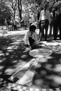 Yoko dedicating Imagine at Central park west