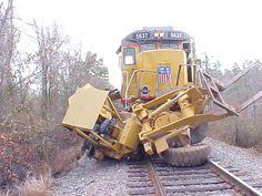 Train hits backhoe in Shreveport
