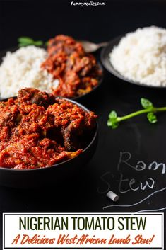 Nigerian Tomato Stew with Ram/Lamb. This Nigerian tomato stew recipe specifically features my favorite lamb tomato stew recipe using farm raised ram or lamb Nigerian Red Stew Recipe, Nigerian Food, Charcuterie, Spicy Stew, West African Food, African Stew, Braised Lamb, Vegetarian Recipes, Healthy Recipes