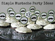 Simple Mustache Party Ideas