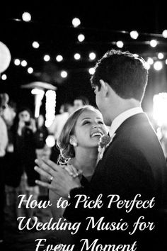 Learn how to pick the perfect wedding music for every moment! So many good #reception #music ideas