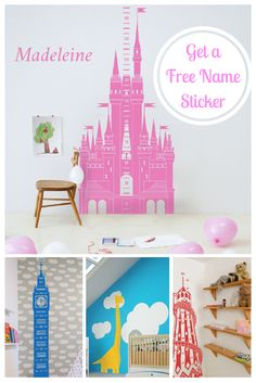 A FREE NAME STICKER worth £15 with every children's height chart order this Christmas