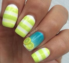 Lemonade nails by @Maja Sevelius