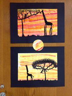 Art with Mr. Giannetto: 2nd Grade: African Savanna