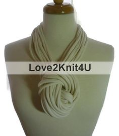 Infinity Scarf Necklace Circle Eternity Scarves multi-strand circle scarves by Love2Style4UFashion (formerly Love2Knit4U). Click this PIN to visit Love2Style4UFashion website for more unique selection of beautiful, original, and handmade in USA with Love fashion for Men, Women and Teens, $20.00