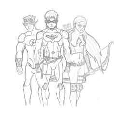 Young Justice: Kid Flash (Wally West), Nightwing (Dick Grayson), Artemis Crock
