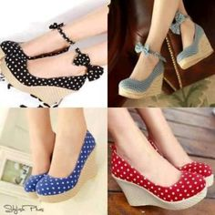 These polka dot shoes are so cute!!