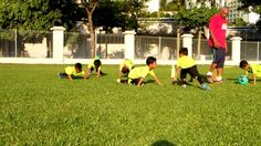 PRESS UPS,PUMPINGS FOR KIDS IN FOOTBALL TRAININGS