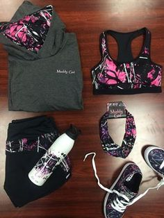 The perfect combination of style & attitude... #MuddyGirl #LifestyleCamo #Pink #Camo #Fitness