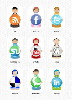 People Social Media Icons