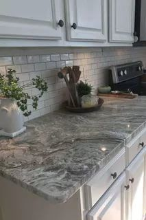 remarkable kitchen countertops | Formica® 180fx® 3460 Calacatta Marble with IdealEdge ...
