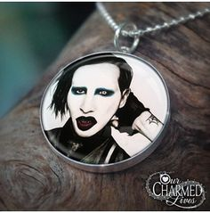 Genuine Sterling Silver Marilyn Manson Pendant/Charm