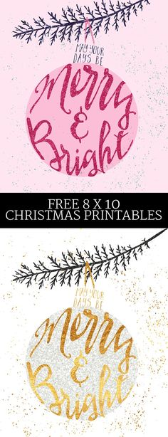 Free Christmas Decor!?! Print out this 8x10 Christmas print in either pink or gold and then place in your favorite 8x10 frame for