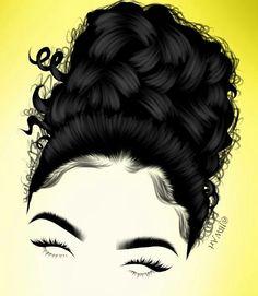 By: Jordan Weise Commission Work Available Black Love Art, Black Girl Art, Art Girl, Curly Hair Cartoon, Instagram Cartoon, Black Art Painting, Black Cartoon, Acrylic Painting Techniques, Salon Style