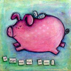 Flying pig by jasperandblue on Etsy, $45.00
