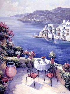 Aegean Vista Print by John Zaccheo