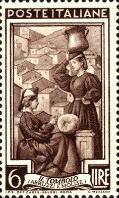 Stamp Lace-making Abruzzi e Molise - Italy Rome Florence, Postage Stamp Art, Love Stamps, Vintage Stamps, Lace Making, Mail Art, Stamp Collecting, Digital Stamps, Poster