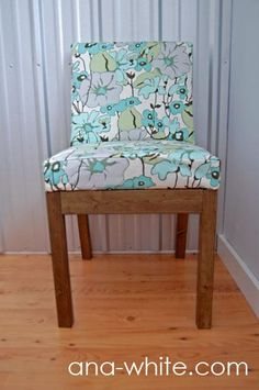 I would make this with a straight back instead of angled back for a dining room chair, but i love it nonetheless.