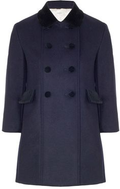 $1,620, Navy Wool Little King Coat by Charles Anastase. Sold by Avenue32. Click for more info: http://lookastic.com/women/shop_items/136654/redirect