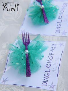 Mermaid Dinglehopper hair barrettes party favors by CraftedByYudi