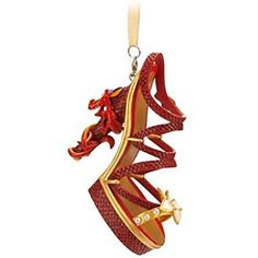 Fans of Mulan will want this adorable Mushu shoe ornament on their Christmas tree or decorating their home this year. The Mushu ornament has pearl details. Disney Shoe Ornaments, Disney Christmas Ornaments, Peanuts Christmas, Christmas Stuff, Merry Christmas, Christmas Decorations, Disney Princess Shoes, Disney Shoes, Disney Jewelry
