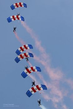The RAF Falcons parachute display team dropping in to open the 2013 RAF Cosford Airshow.