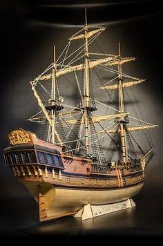 Wooden Ship Model Kits, Model Ship Kits, Wooden Model Boats, Model Sailboats, Model Sailing Ships, Black Pearl Ship, Scale Model Ships, Model Ship Building, Wooden Sailboat